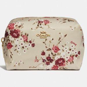 Coach Cream Beechwood Floral Cosmetics Bag NWT